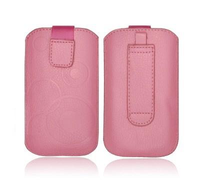 Forcell Deko univerzális kihúzós tok - Samsung S5230, Maxcom MM128, MM129 pink
