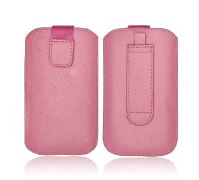 Forcell Deko univerzális kihúzós tok - Nokia 302 Asha/N8/N97 Mini Maxcom MM428 pink