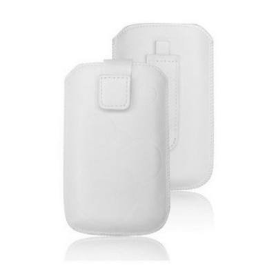 Forcell Deko univerzális kihúzós tok - Apple iPhone 3G/4G/4S/S5830 Galaxy Ace/S6310 Young fehér