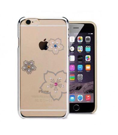 Astrum MC280 keretes virág mintás, színes Swarovski köves Apple iPhone 6 Plus / 6S Plus hátlapvédő ezüst