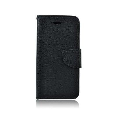 Fancy Huawei Ascend Y3 (2018) oldalra nyíló mágneses könyv tok szilikon belsővel fekete