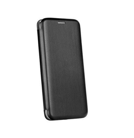 Forcell Elegance Apple iPhone XR (6.1) oldalra nyíló mágneses könyv tok szilikon belsővel fekete
