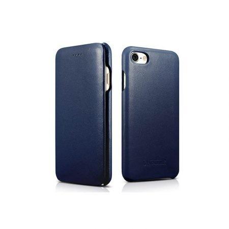 Forcell Elegance Apple iPhone 6/6S oldalra nyíló mágneses könyv tok szilikon belsővel kék