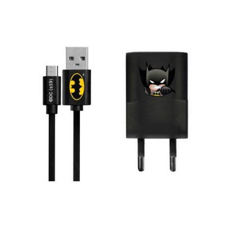 USB kábel DC - Batman 003 Apple Lightning adatkábel hálózati töltővel 1m fekete 1A