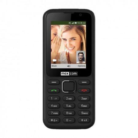 Maxcom MK241 mobiltelefon, kártyafüggetlen, bluetooth-os, fm rádiós fekete