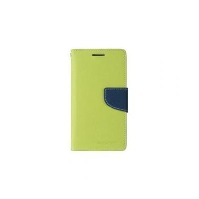 Fancy Huawei Honor 8 oldalra nyíló mágneses könyv tok szilikon belsővel lime - kék
