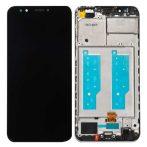 Huawei Y7 Prime (2018) fekete LCD kijelző érintővel és kerettel