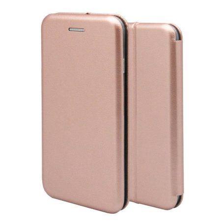 Forcell Elegance Apple iPhone 7 / 8 oldalra nyíló mágneses könyv tok szilikon belsővel rozéarany