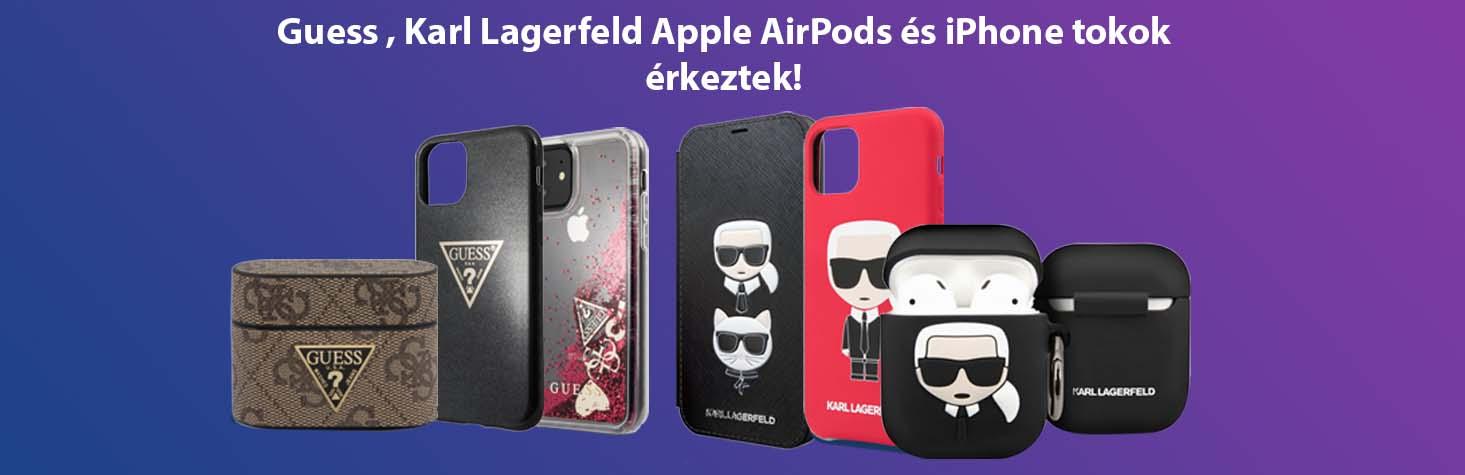 Guess , Karl Lagerfeld Apple AirPods és iPhone tokok érkeztek!